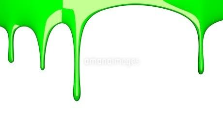 Green liquid on white backgroundのイラスト素材 [FYI03423995]
