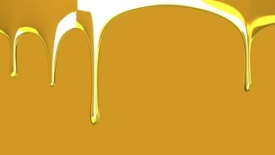 Gold liquid on gold backgroundのイラスト素材 [FYI03423999]