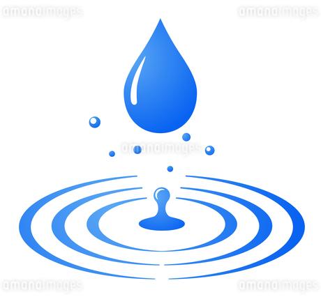 水滴と波紋のアイコンのイラスト素材 [FYI03424576]