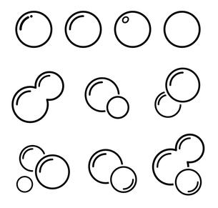 泡 アイコンセット のイラスト素材 [FYI03424588]