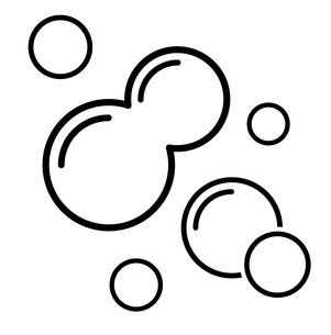 泡 アイコンセット のイラスト素材 [FYI03424589]