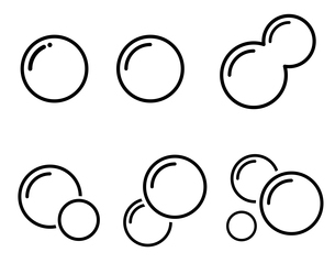 泡 アイコンセット のイラスト素材 [FYI03424590]