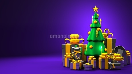 Christmas tree and gift boxesのイラスト素材 [FYI03424657]