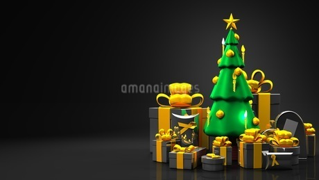 Christmas tree and gift boxesのイラスト素材 [FYI03424660]