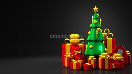 Christmas tree and gift boxesのイラスト素材 [FYI03424664]