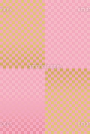 チェック 金 ピンクのイラスト素材 [FYI03425821]