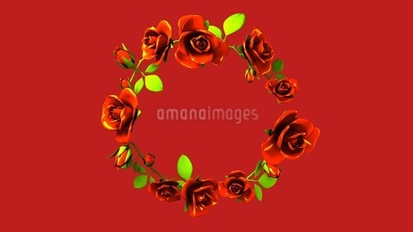Red Roses Frame On Red Text Spaceのイラスト素材 [FYI03426814]