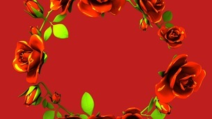 Red Roses Frame On Red Text Spaceのイラスト素材 [FYI03426815]