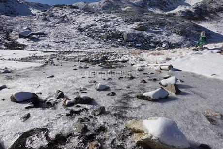 北アルプス称名川の結氷の写真素材 [FYI03426863]