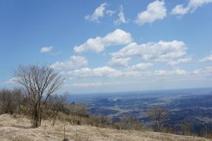 筑波山山頂より見た雲と山の風景の写真素材 [FYI03427466]