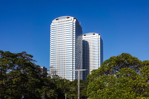幕張新都心の高層オフィスビル群の写真素材 [FYI03427645]