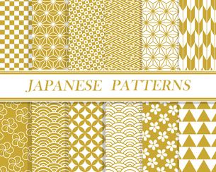 和柄パターン セット 03のイラスト素材 [FYI03427715]