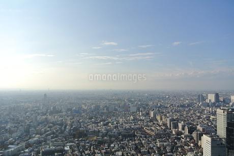 高層階からの東京の朝の写真素材 [FYI03427752]