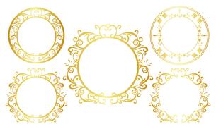 ゴールドフレーム セット 01のイラスト素材 [FYI03428064]