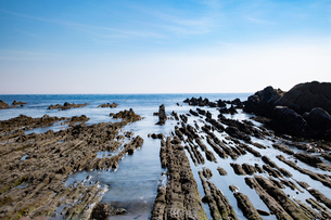 根本海岸干潮時の屏風岩の写真素材 [FYI03428721]