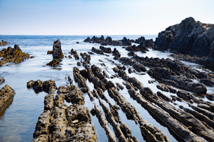 根本海岸干潮時の屏風岩の写真素材 [FYI03428725]