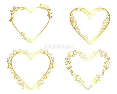 ゴールドフレーム セット 02のイラスト素材 [FYI03428837]