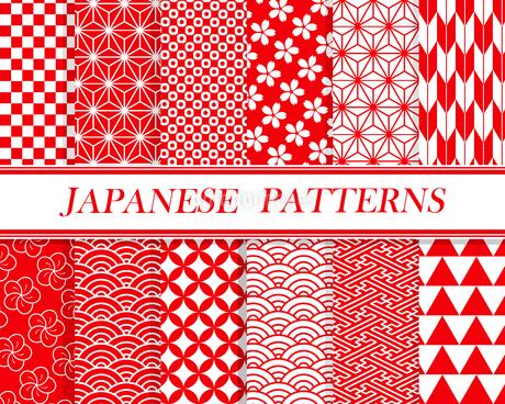 和柄パターン セット 01のイラスト素材 [FYI03429108]