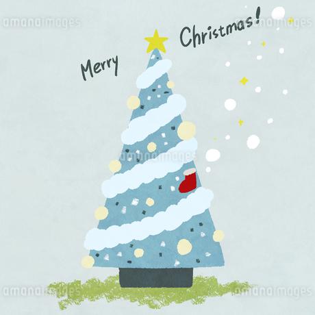 手描き風 クリスマスツリーのイラスト素材 [FYI03429152]