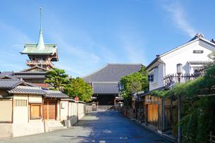 京都らしい町並みが続く「ねねの道」界隈の写真素材 [FYI03429257]