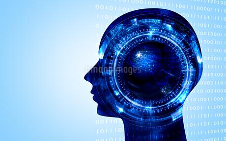 イラスト素材: 人工知能ブルーイメージ、AIのイラスト素材 [FYI03429502]
