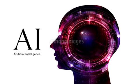 イラスト素材: 人工知能レッドイメージ、AIのイラスト素材 [FYI03429503]
