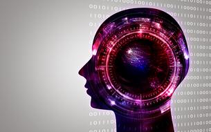 イラスト素材: 人工知能レッドイメージ、AIのイラスト素材 [FYI03429504]