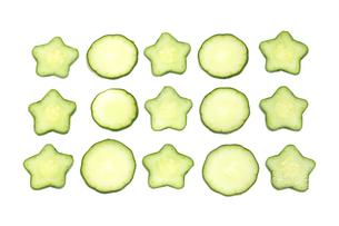 星型の胡瓜の写真素材 [FYI03429723]