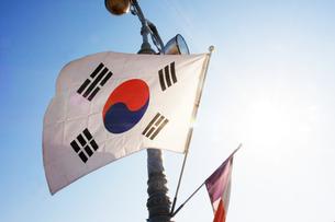 韓国 国旗 日韓関係の写真素材 [FYI03429962]