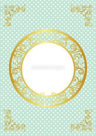 ゴールドフレーム 円形 04のイラスト素材 [FYI03430225]