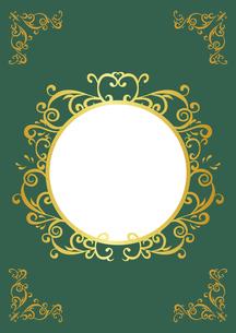 ゴールドフレーム 円形 03のイラスト素材 [FYI03430226]