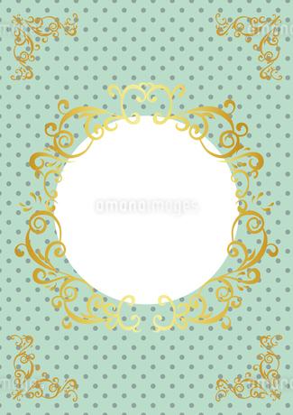 ゴールドフレーム 円形 02のイラスト素材 [FYI03430227]