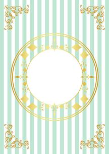 ゴールドフレーム 円形 0のイラスト素材 [FYI03430228]