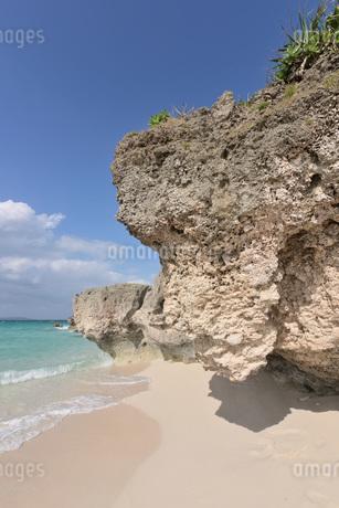 宮古島/来間島・長間浜ビーチの11月の風景の写真素材 [FYI03430467]