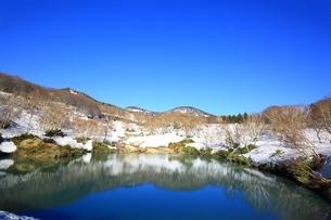 地獄沼と八甲田連峰の写真素材 [FYI03430863]