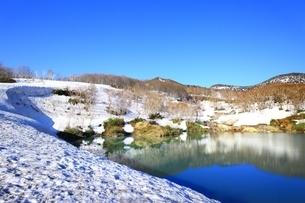 地獄沼と八甲田連峰の写真素材 [FYI03430867]