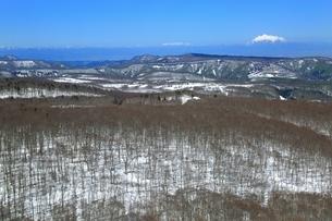 八甲田山頂公園より望む岩木山の写真素材 [FYI03430873]