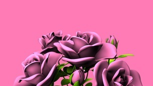Pink Roses Bouquet On Pink Text Spaceのイラスト素材 [FYI03431105]