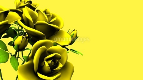 Yellow Roses Bouquet On yellow Text Spaceのイラスト素材 [FYI03431184]