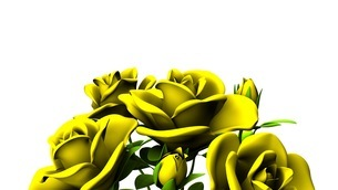 Yellow Roses Bouquet On White Text Spaceのイラスト素材 [FYI03431187]