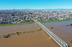 台風一過の東京の写真素材 [FYI03431199]