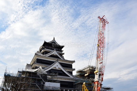 熊本城 復興中の写真素材 [FYI03432460]
