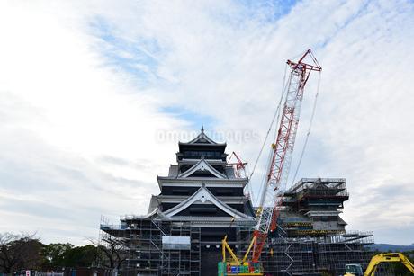 熊本城 復興中の写真素材 [FYI03432462]