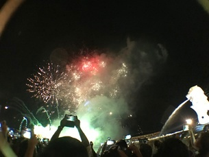 カウントダウン イベント シンガポールの写真素材 [FYI03432468]