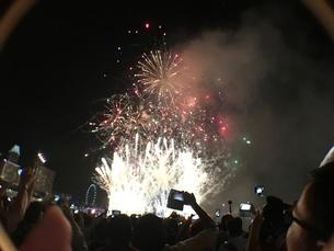 カウントダウン イベント シンガポールの写真素材 [FYI03432469]