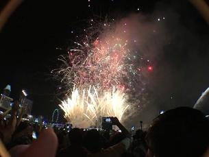 カウントダウン イベント シンガポールの写真素材 [FYI03432470]