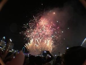 カウントダウン イベント シンガポールの写真素材 [FYI03432471]