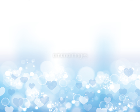 ハート 水色 背景のイラスト素材 [FYI03433016]