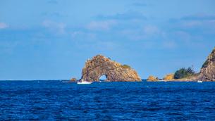日本海の奇岩の写真素材 [FYI03433162]