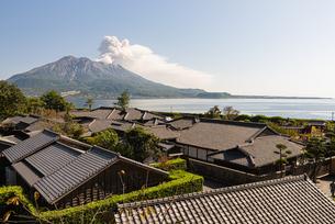 仙巌園と桜島の写真素材 [FYI03433249]